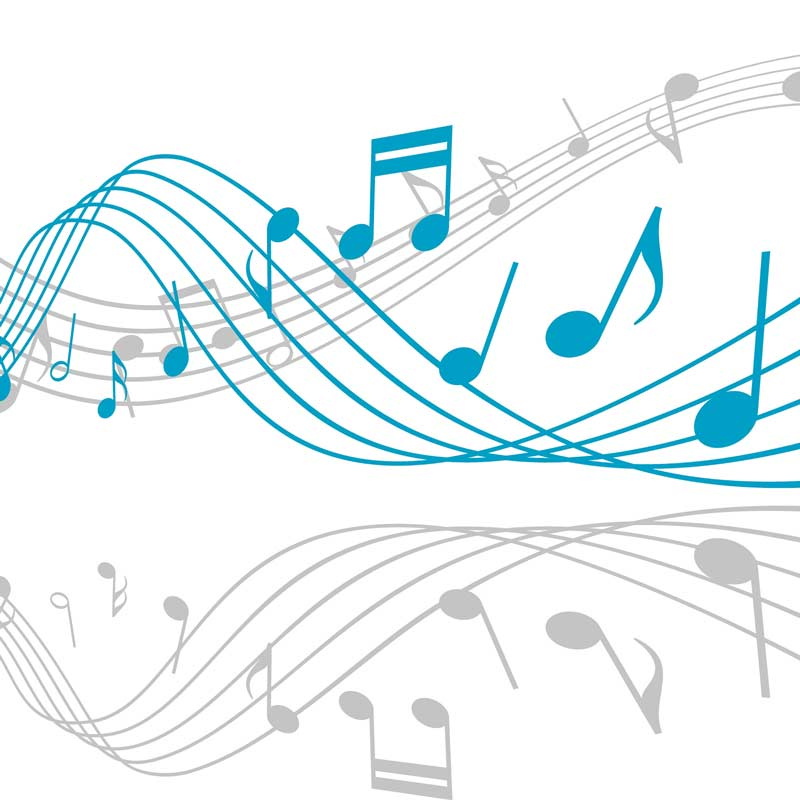 Music notes can affect hearing loss