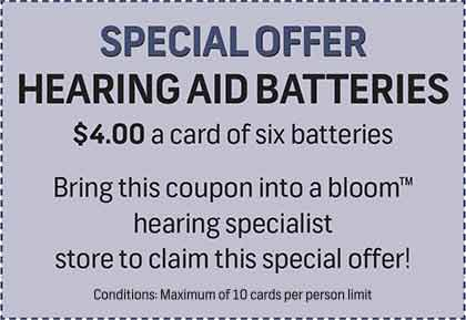 Special Offer Hearing Aid Batteries coupon