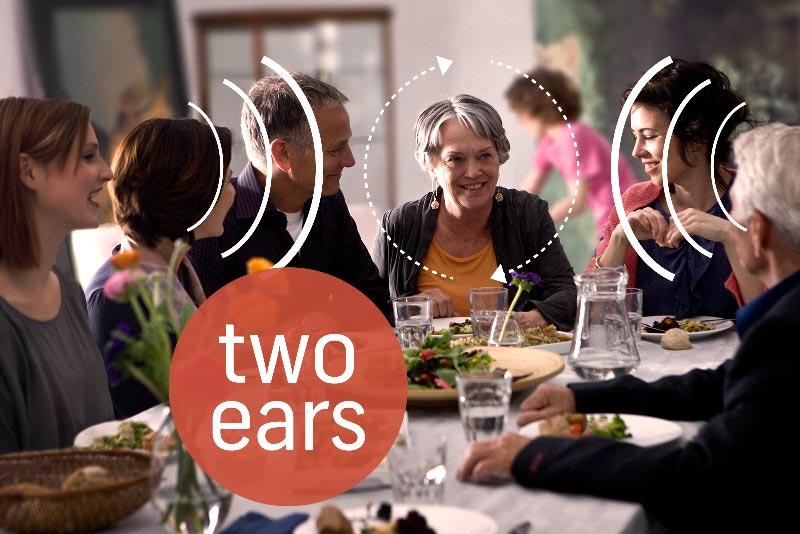 Wearing two hearing aids
